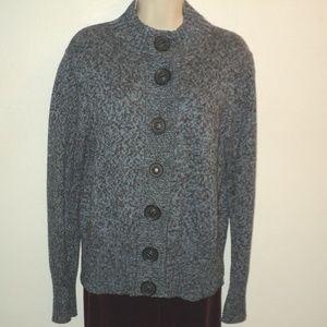Nomadic Traders Sz M Cardigan Sweater Blue & Brown